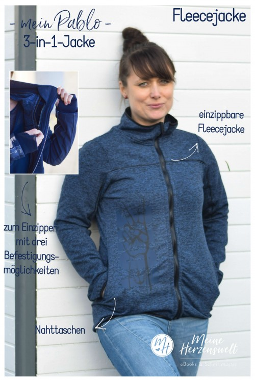Softshell-/Fleecejacke Pablo