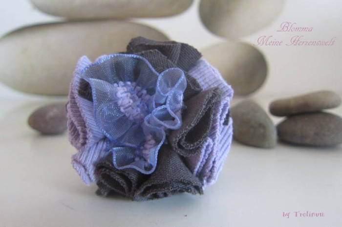 Tutorial - Freebook - Stoffblume - Jerseyreste
