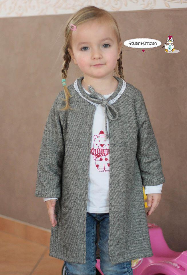 Svala - Cardigan - Mantel - Kinder - Nähanleitung - Schnittmuster