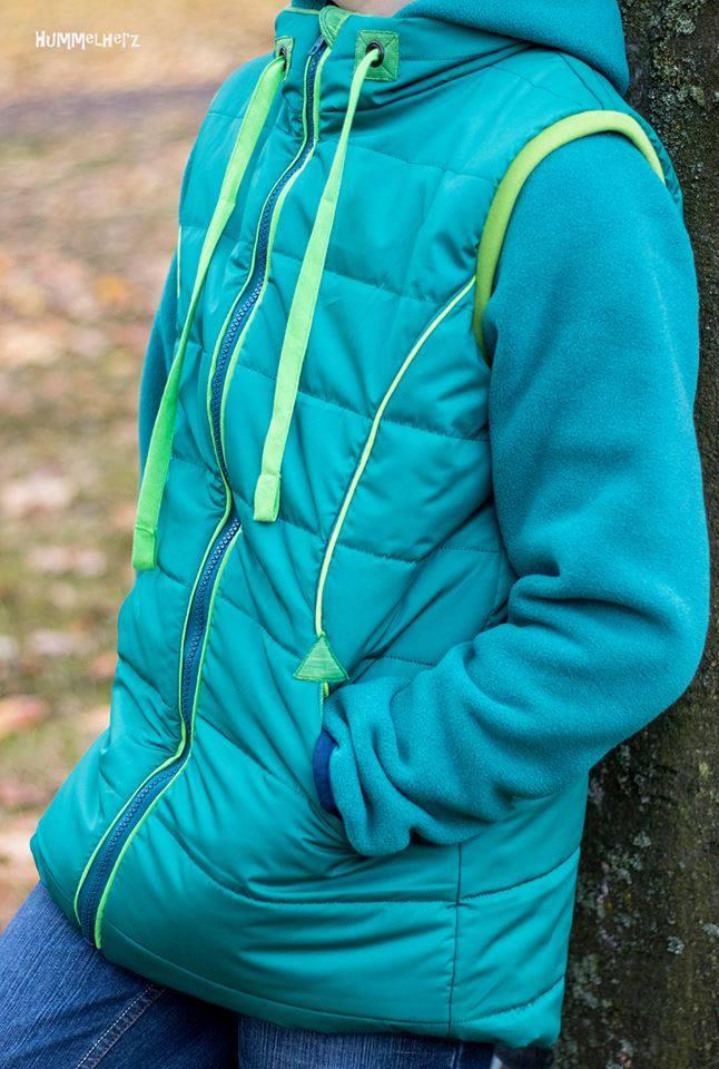 Steppweste/-jacke Nuka - Kinder - Nähanleitung - Schnittmuster