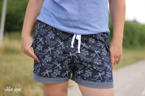 Shorts kurze Hose - Suri - Damen - Nähanleitung - Schnittmuster