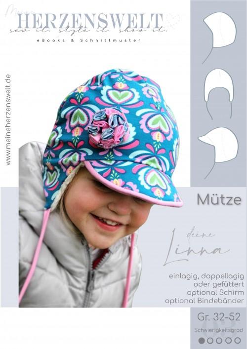 Mütze Babymütze - Linna - Schnittmuster - Nähanleitung