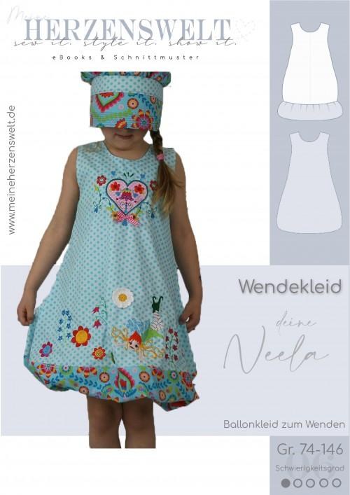 Neela - Kinderkleid - Ballonkleid - Schnittmusterr - Nähanleitung