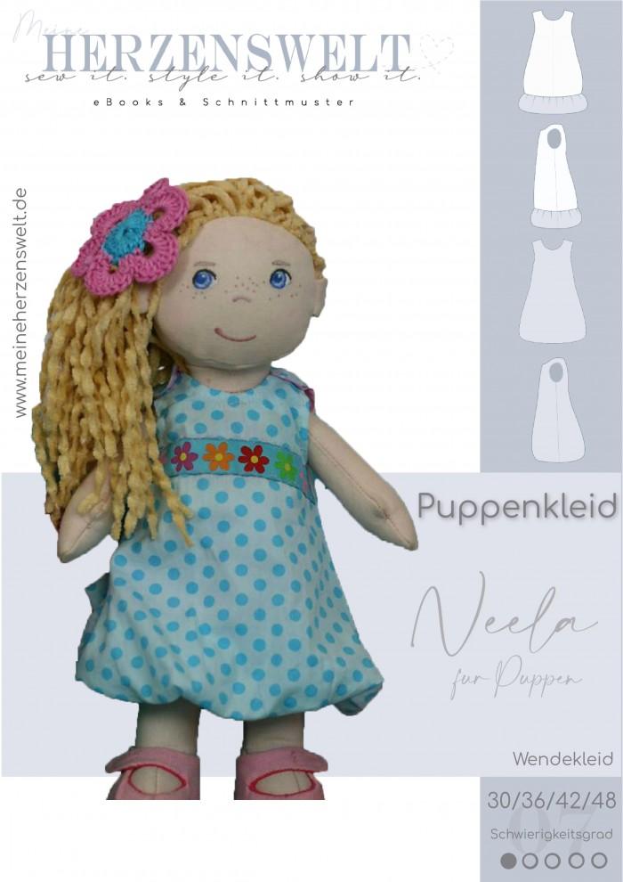 Puppenkleid - Kleid für Puppen - Nähanleitung - Schnittmuster