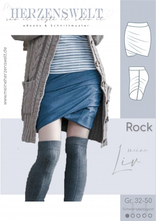 Rock - Liv - Damen - Schnittmuster Nähanleitung