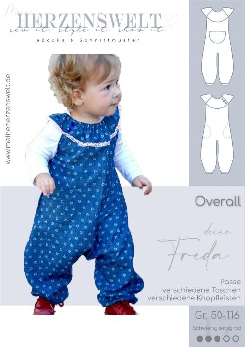 Overall Jumpsuit Strampler - Freda - Kinder - Babys - Nähanleitung