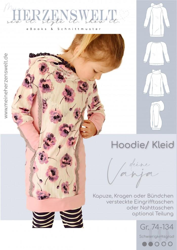 Hoodie - Pullover - Vanja - Kinder - Nähanleitung - Schnittmuster