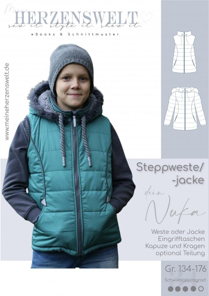 Steppweste Weste Jacke - Nuka - Kinder - Nähanleitung