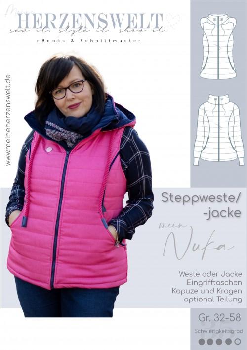 Steppweste - Weste - Steppjacke - Damen - Nähanleitung - Schnittmuster