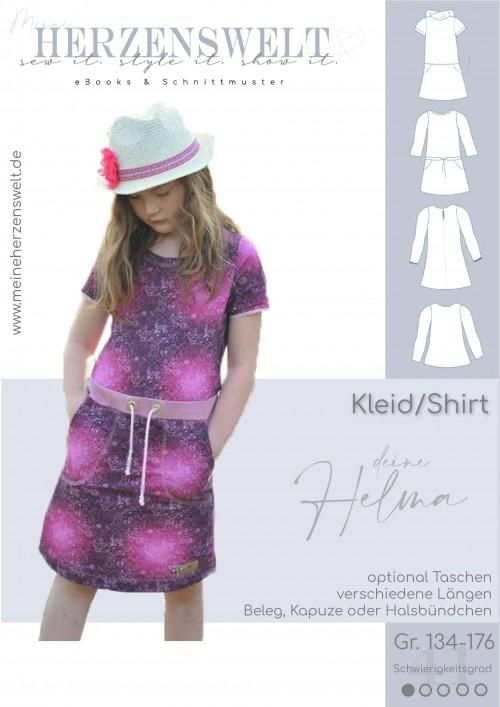 Kleid Sweatkleid Helma - Damen - Schnittmuster - Nähanleitung
