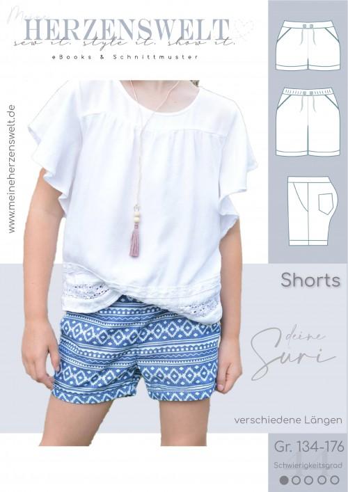 Shorts Hose - Suri - Schnittmuster - Kinder