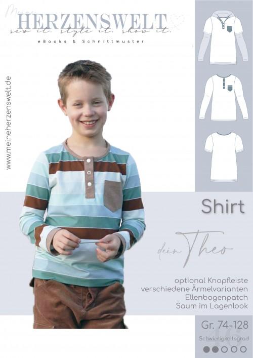 Shirt Kinder Theo - Nähanleitung