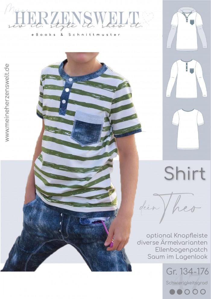 Shirt Theo - Nähanleitung - Kinder