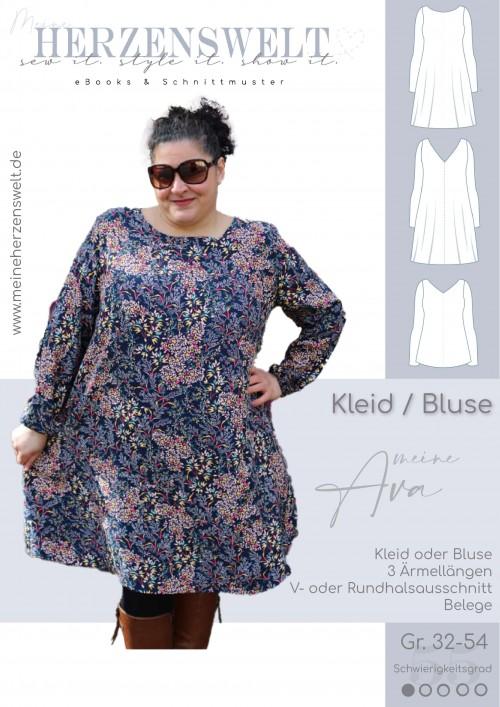 Ava Bluse/Kleid - Damen - Nähanleitung