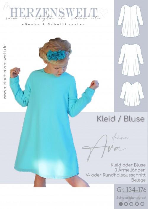 Kleid/Bluse Ava - Kinder - Schnittmuster