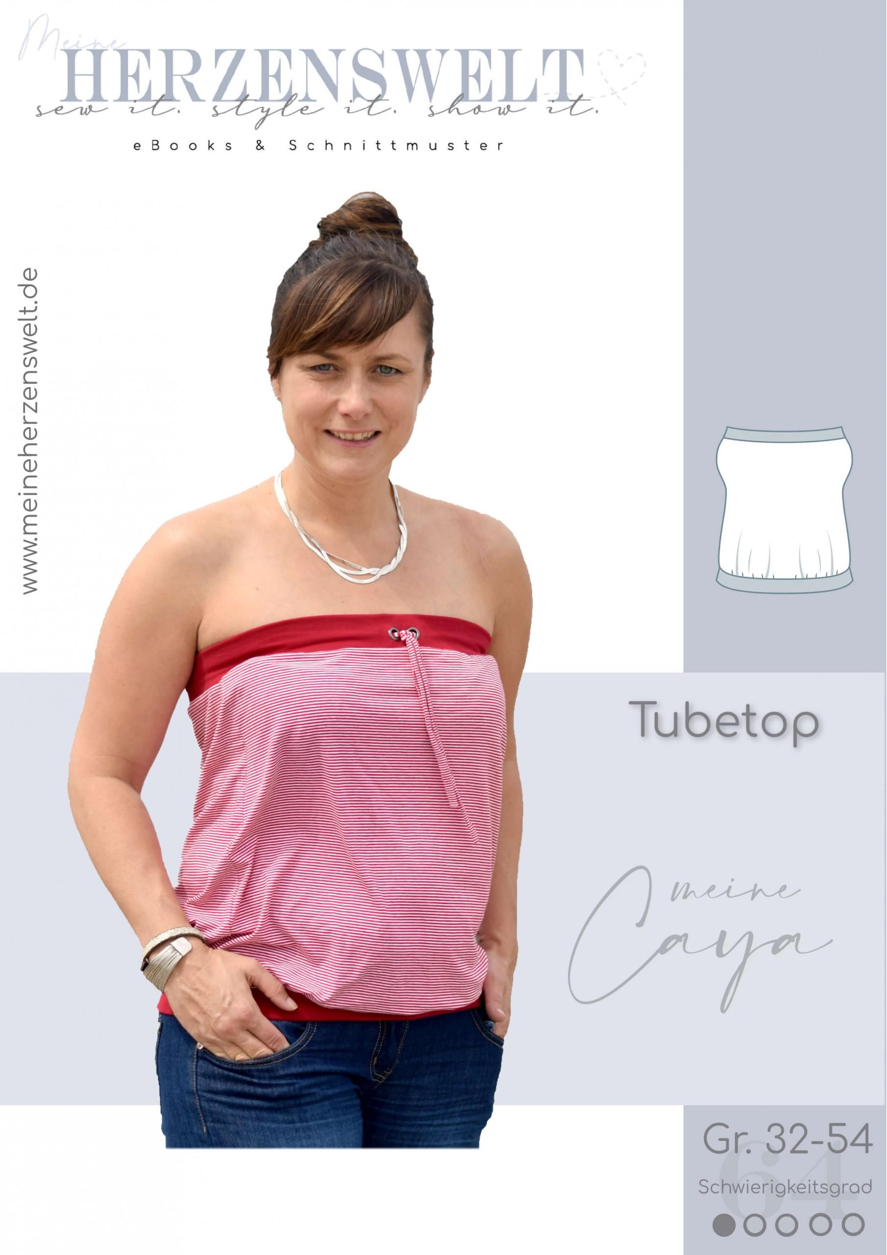 Tubetop Caya - Nähanleitung - Damen