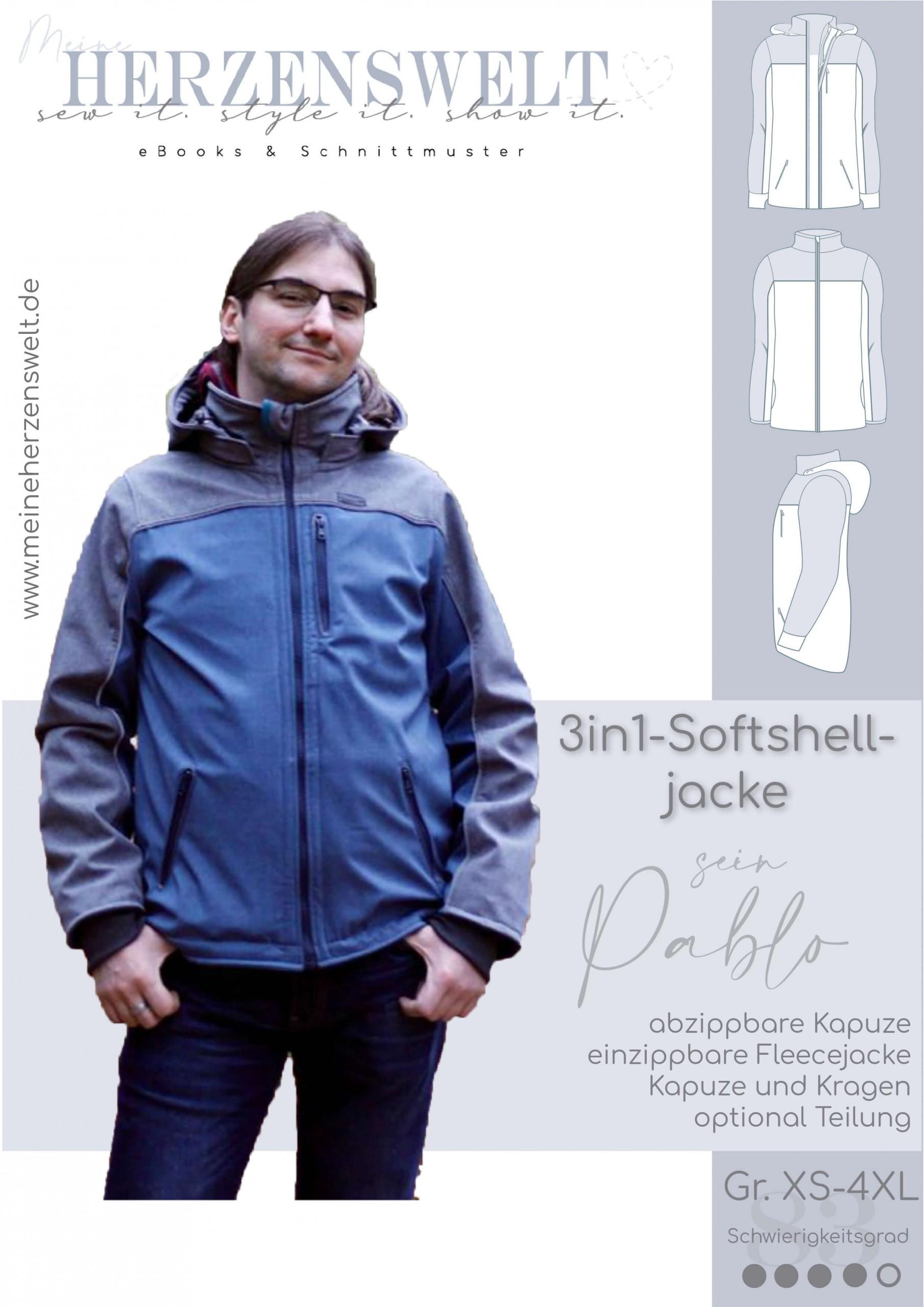 3in1 Softshelljacke Pablo Herren