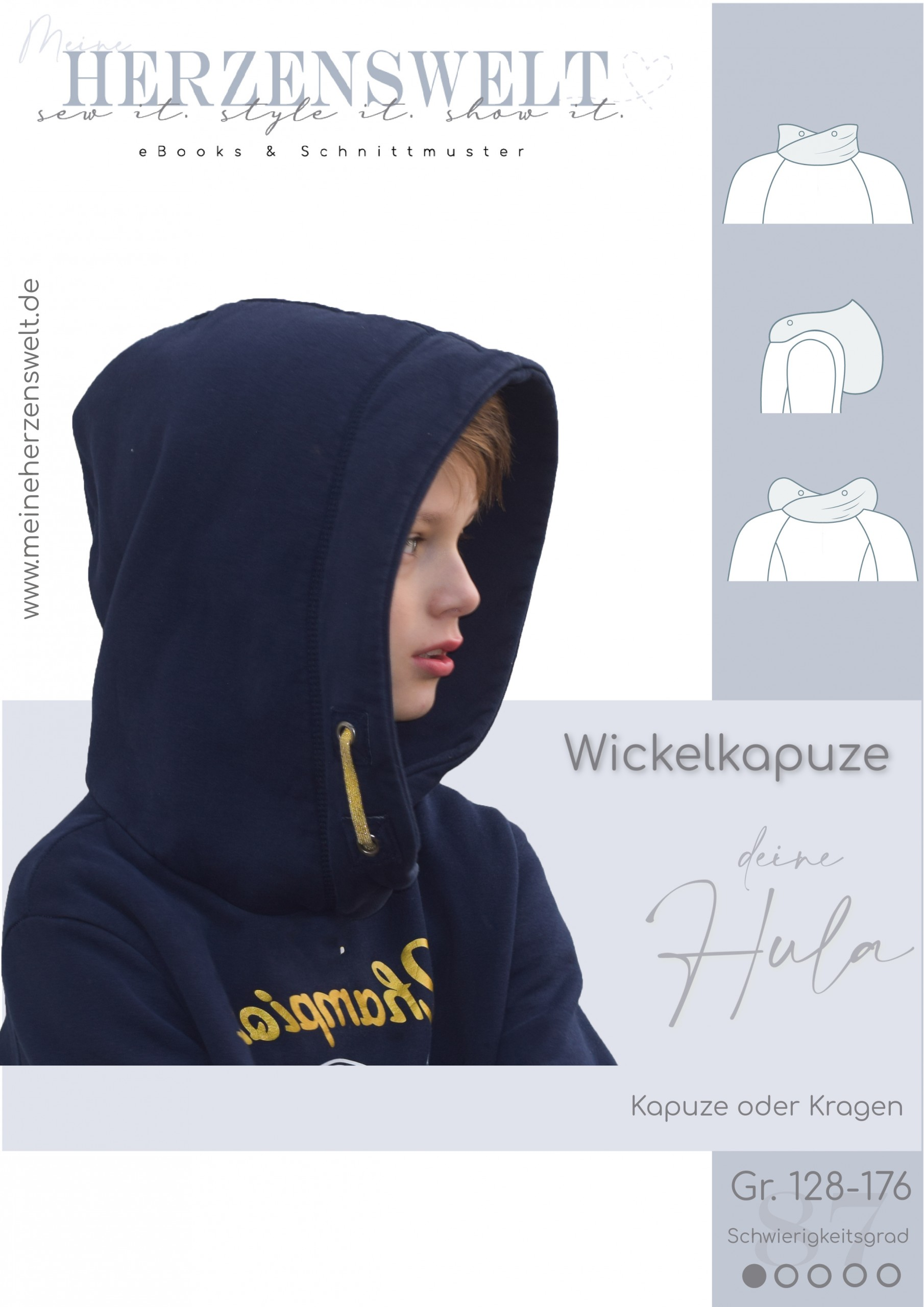 Hula - Wickelkapuze für Pullover