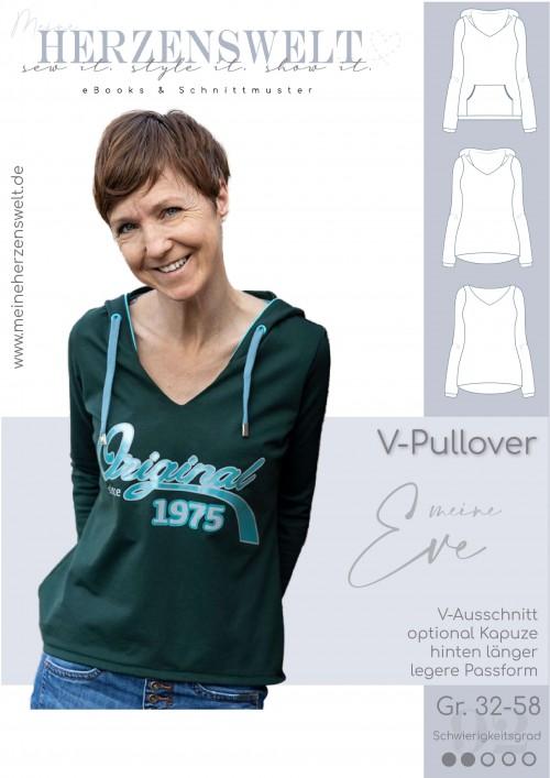 Pullover V-Pullover Eve - Damen - Schnittmuster - Nähanleitung