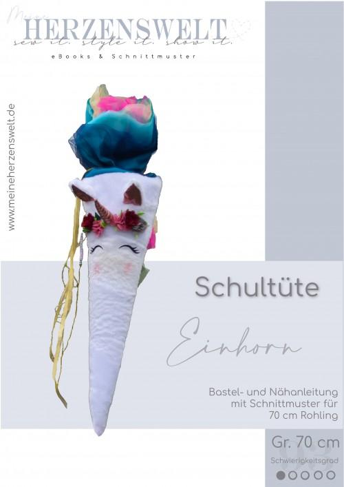 Einhornschultüte - Bastelanleitung - Nähanleitung