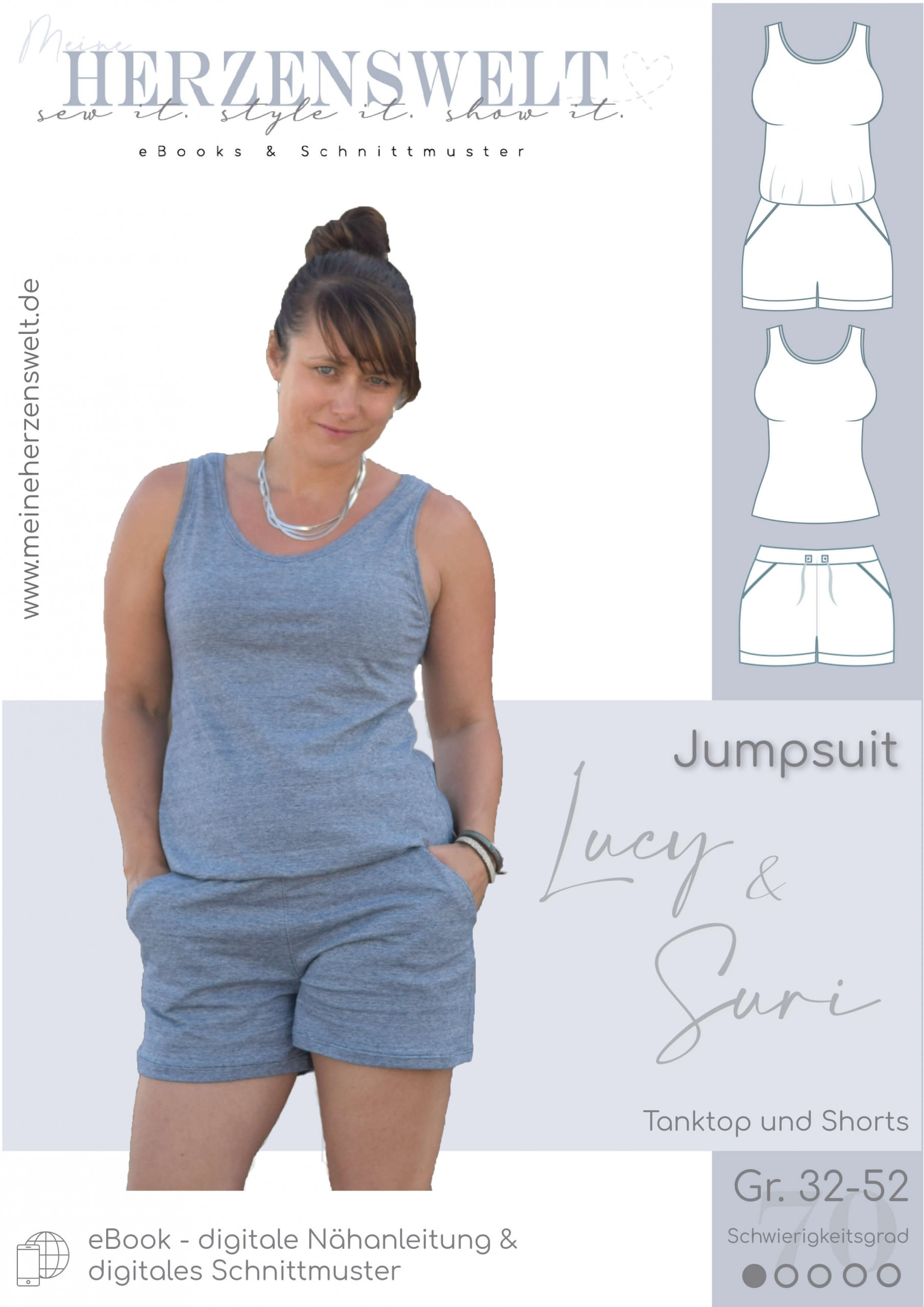 Overall Lucy/Suri - Nähanleitung Damen