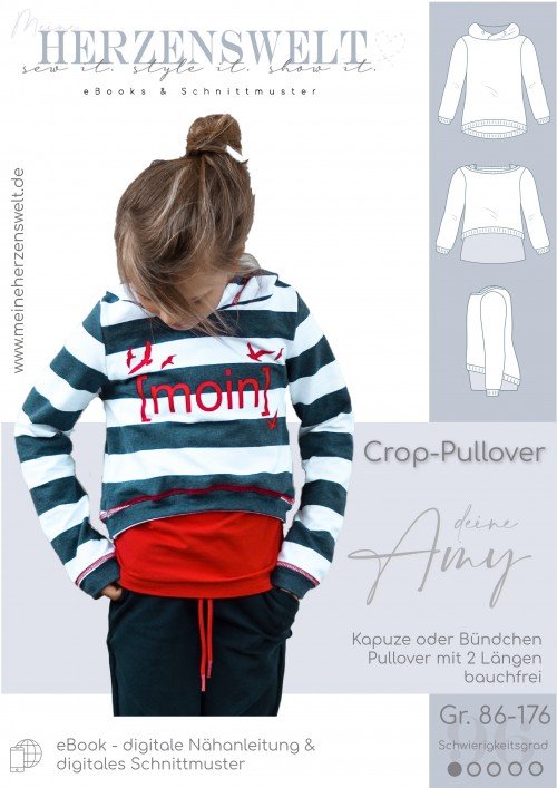 Crop-Pullover Amy