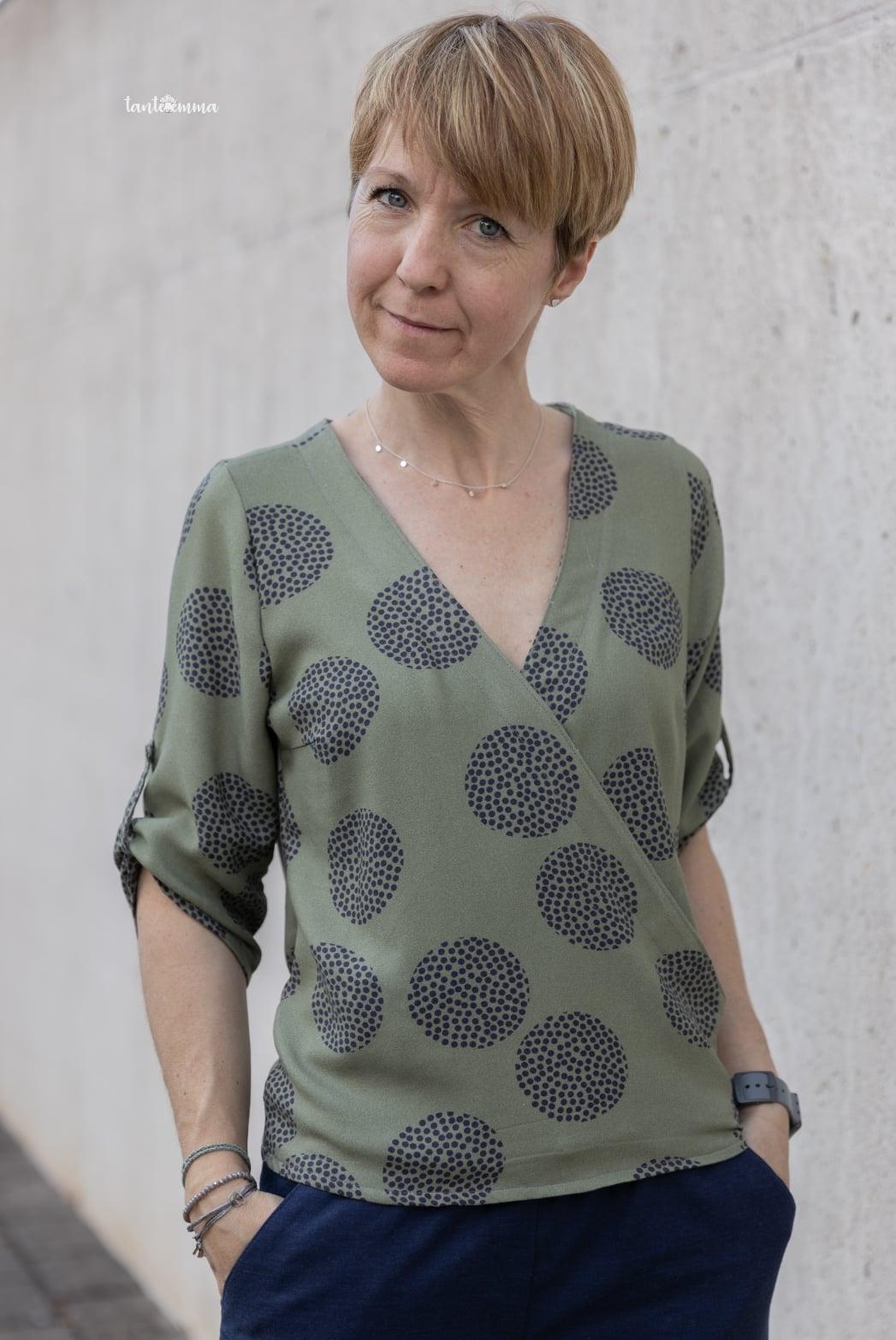 Nähanleitung Schnittmuster Wickelblus Bluse Sevilla Damen meine Herzenswelt
