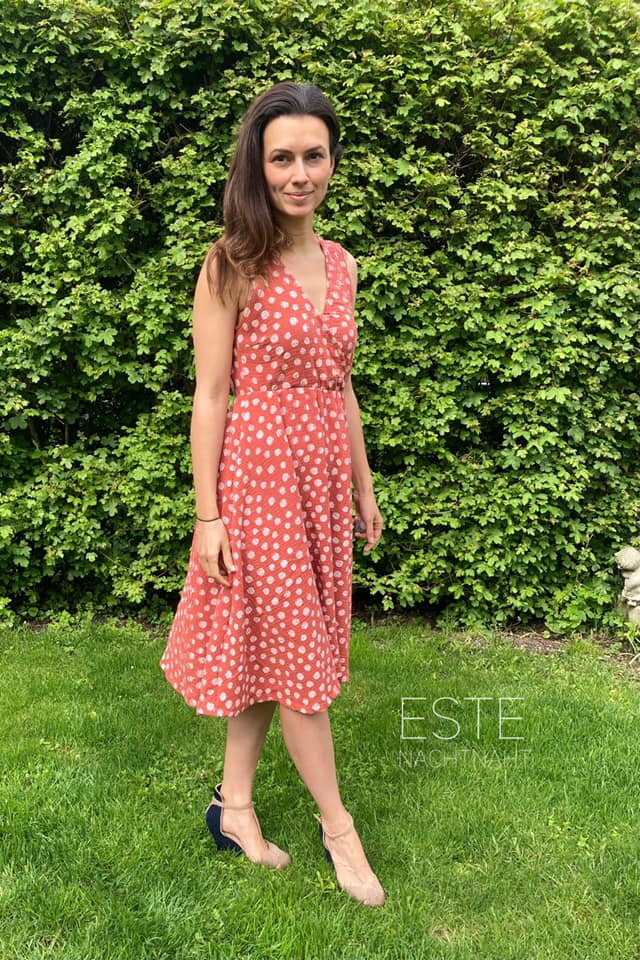 Nähanleitung Schnittmuster Wickelkleid Kleid Sevilla Valencia Damen meine Herzenswelt