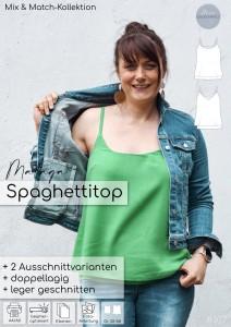 Nähanleitung Schnittmuster Spaghettitop Top Malaga Damen meine Herzenswelt