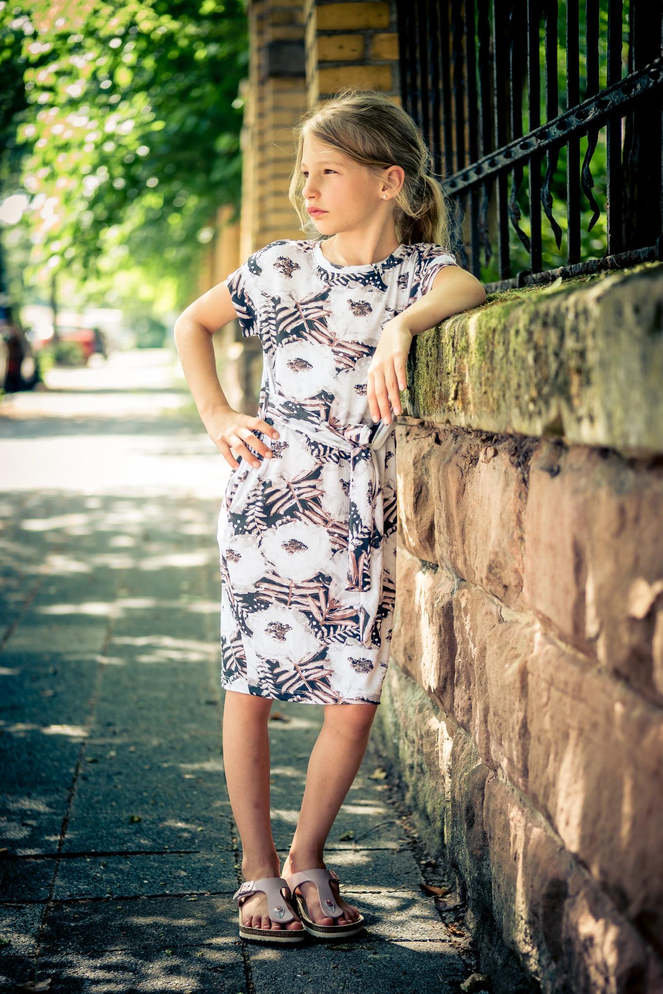 deine Siena - Jerseykleid - Mädchen - Schnittmuster - Nähanleitung - meine Herzenswelt